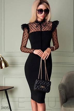 Женственное приталенное Платье женское, фото 2