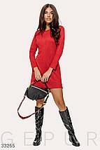 Замшевое Платье женское красного цвета, фото 2