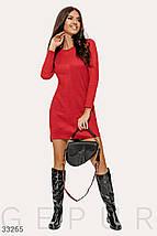 Замшевое Платье женское красного цвета, фото 3