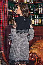 Платье женское-мини с кружевом, фото 3
