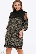 Платье женское-мини с кружевом, фото 2