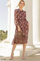 Романтичное Платье женское в цветочный принт, фото 2