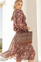 Романтичное Платье женское в цветочный принт, фото 3