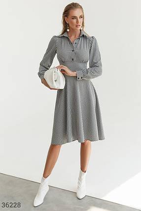 Стильное твидовое Платье женское в клетку, фото 2