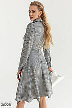 Стильное твидовое Платье женское в клетку, фото 3