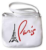 "СУМОЧКА ""МINI"" - №108 ""Paris"" - белая, фото 1"