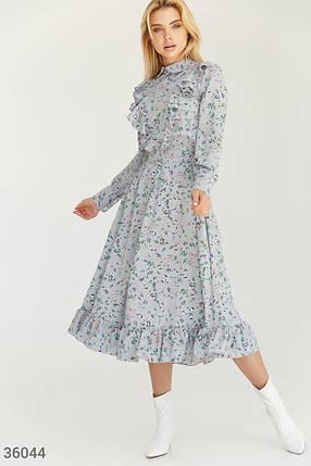 Светлое приталенное Платье женское, фото 2