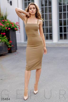 Стильное Платье женское на бретелях, фото 2