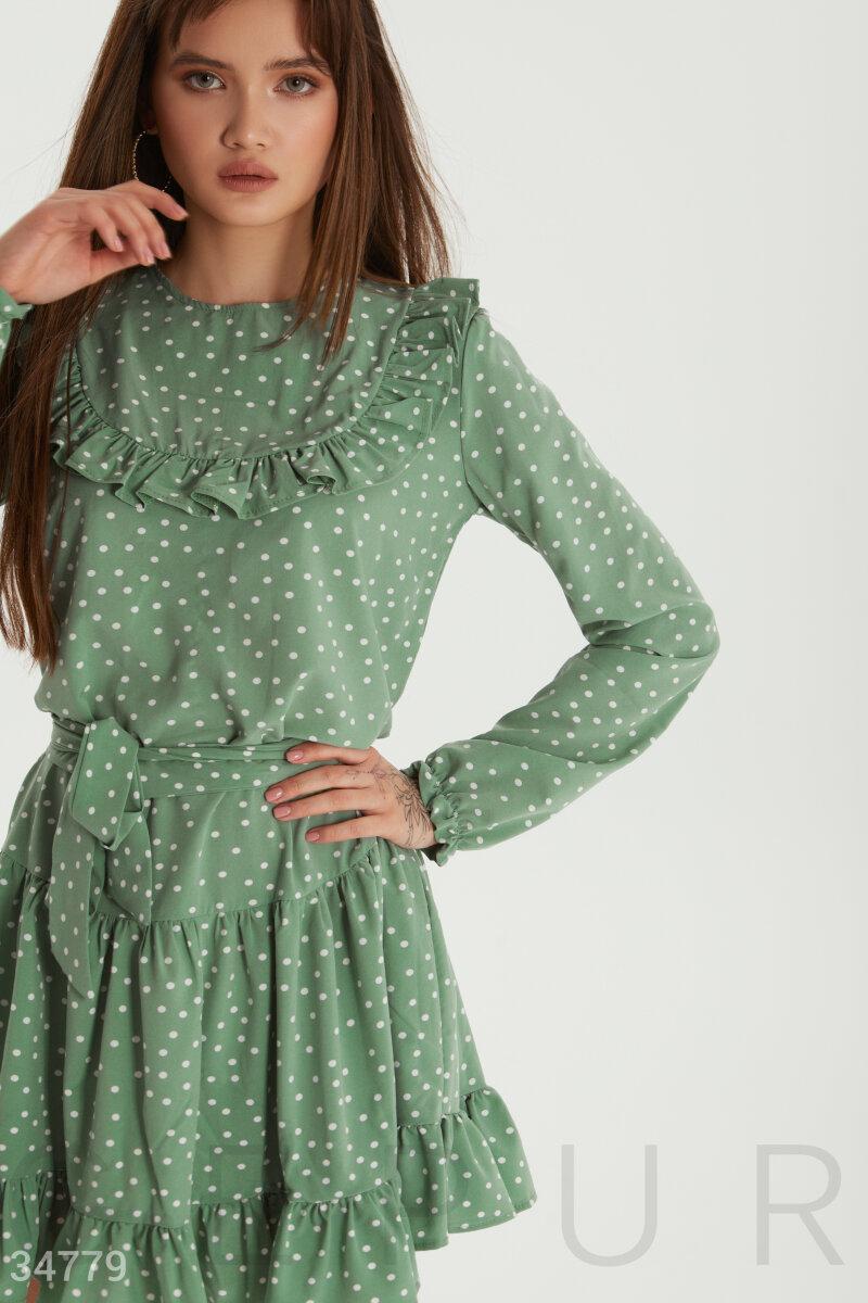 Платье женское мятного оттенка
