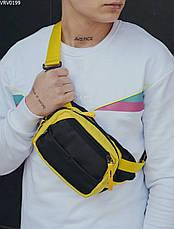 Поясная сумка Staff tops black & yellow, фото 3