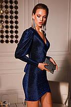 Платье женское королевского синего цвета, фото 3