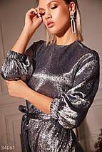 Серебристое вечернее Платье женское, фото 2