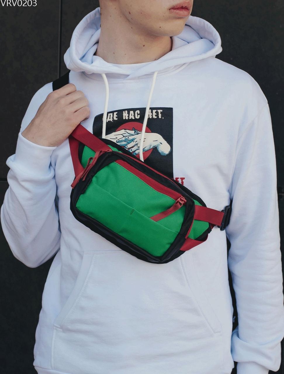Поясна сумка Staff tops black & green