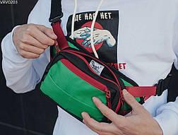 Поясна сумка Staff tops black & green, фото 2