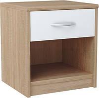 Прикроватная тумбочка в спальню с выдвижным ящиком и местом для хранения, прикроватная тумба модерн