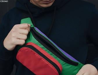 Поясная сумка Staff violet green red, фото 2