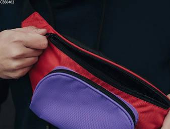 Поясная сумка Staff black violet red, фото 2