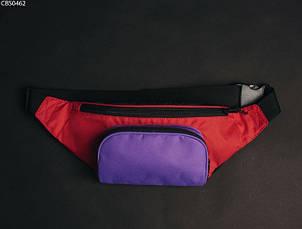 Поясная сумка Staff black violet red, фото 3