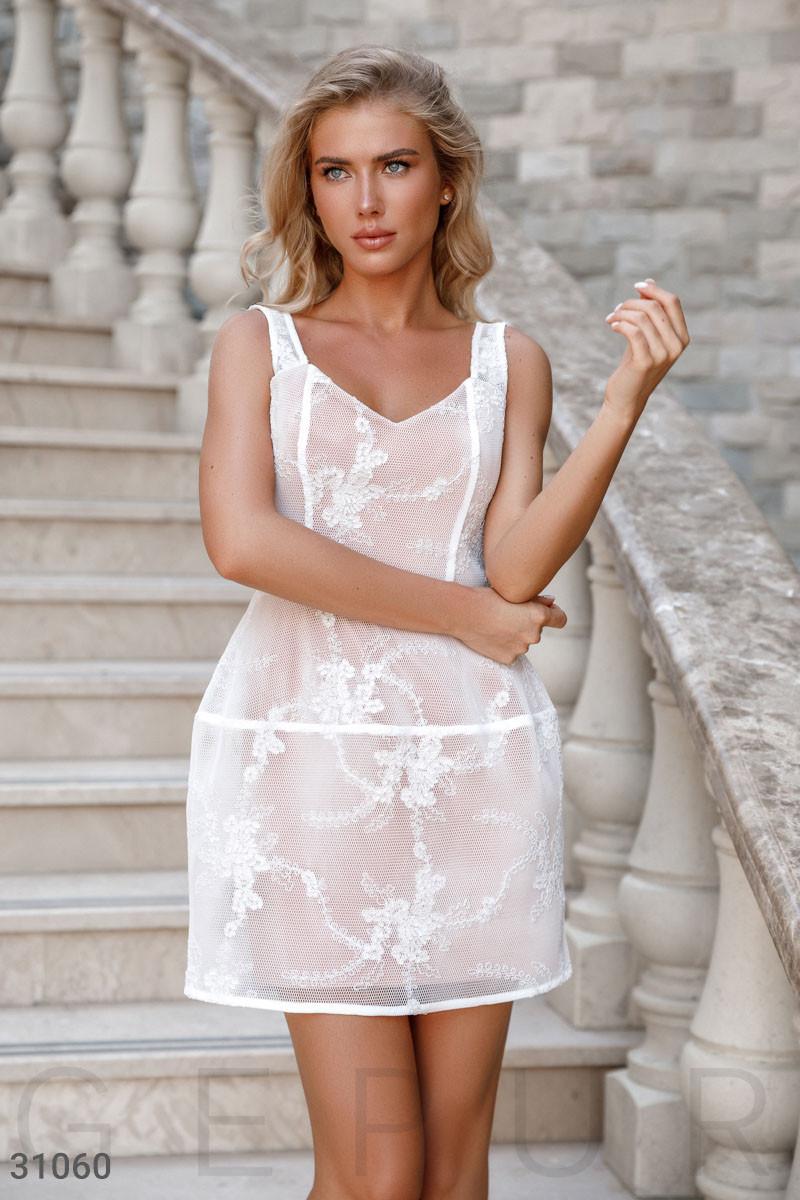 Платье женское с цветочным декором
