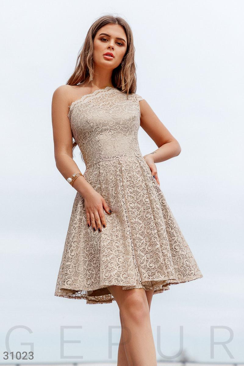 Короткое асимметричное Платье женское