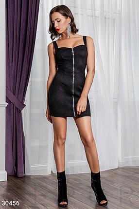 Замшевое Платье женское на молнии, фото 2