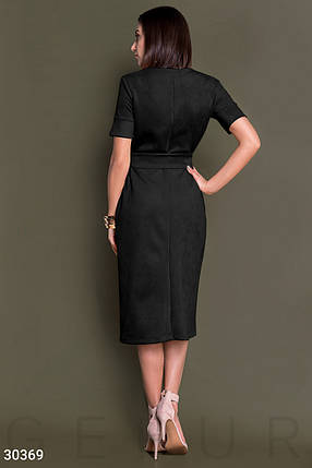 Замшевое Платье женское-миди, фото 2