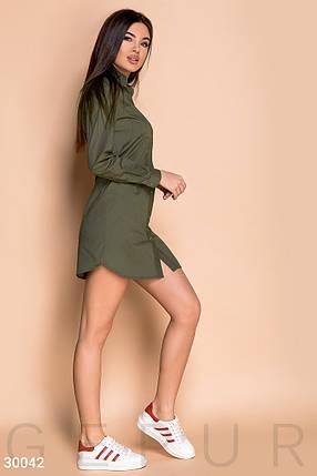 Платье женское-рубашка в стиле милитари, фото 2