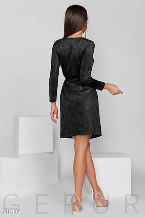 Замшевое Платье женское на запа́х, фото 2