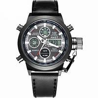 Мужские наручные армейские часы AMST Watch, кварцевые часы! Скидка