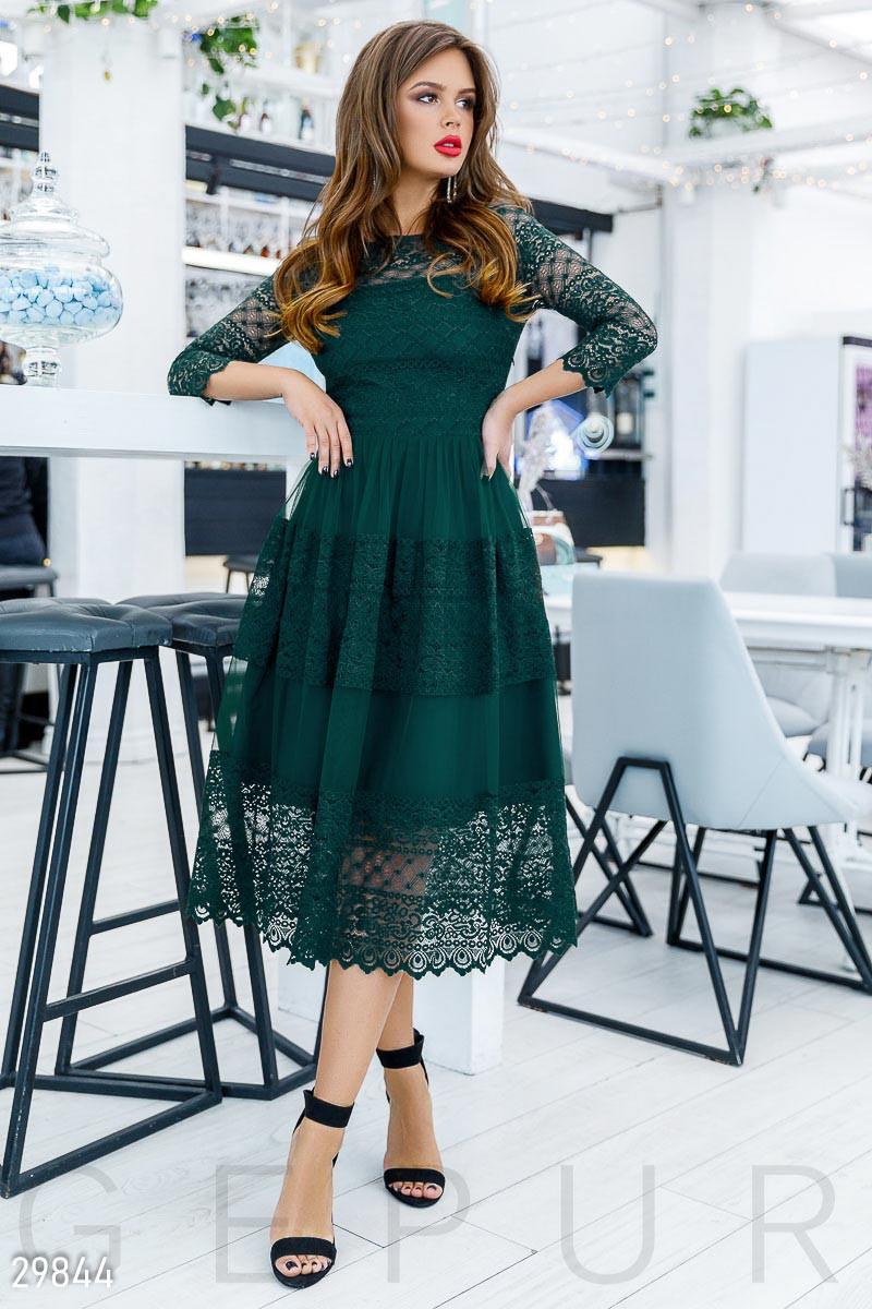 Кружевное Платье женское-миди