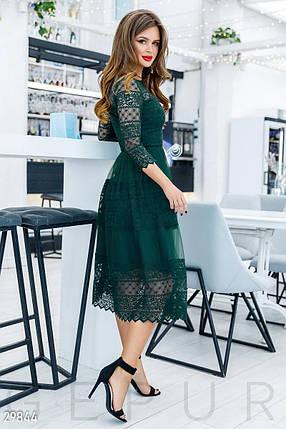 Кружевное Платье женское-миди, фото 2
