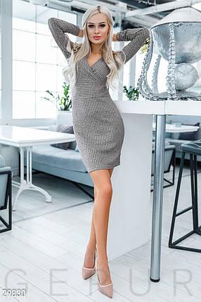 Приталенное Платье женское с люрексом, фото 2