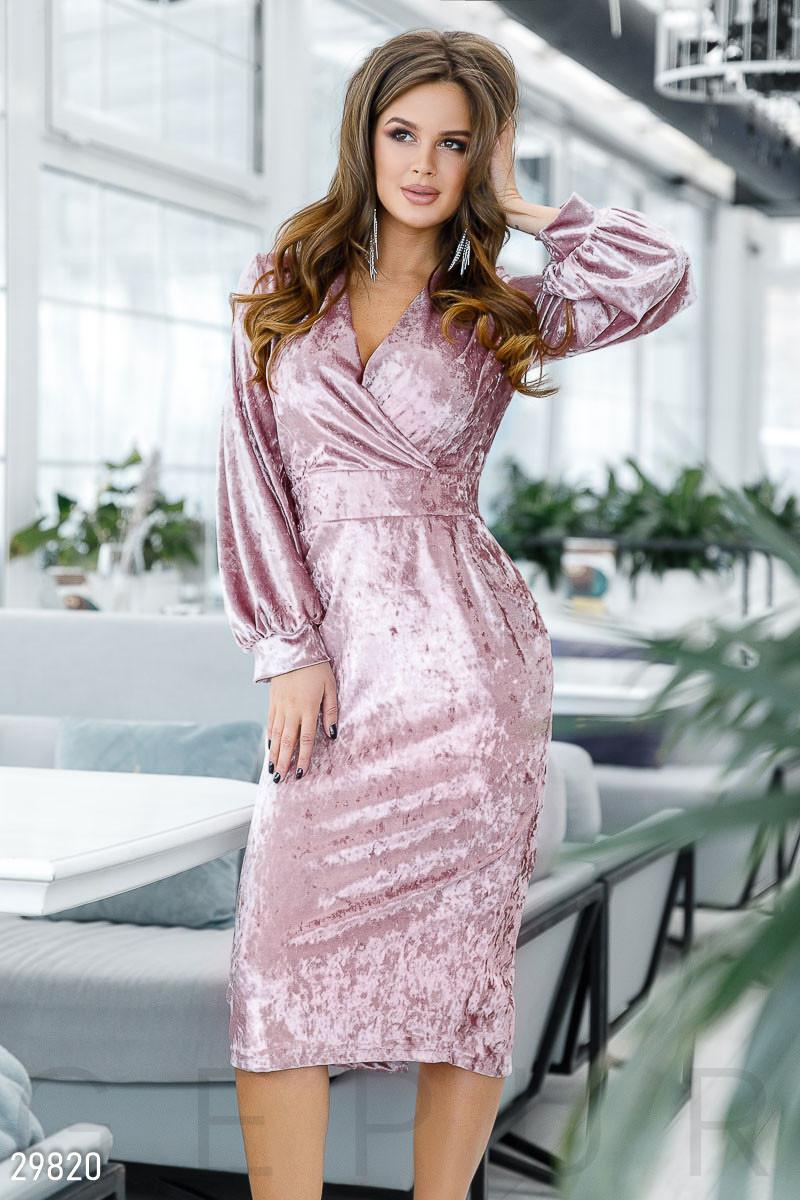 Бархатное Платье женское-миди