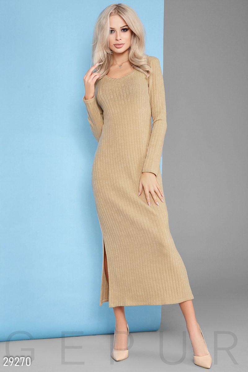 Трикотажное Платье женское-макси