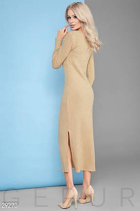 Трикотажное Платье женское-макси, фото 2