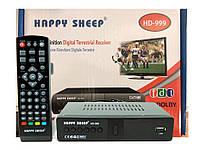 Тюнер T2 Happy Sheep HD-999, приставка Т2 , ТВ ресивер, ТВ тюнер, Телеприемник, цифровое телевидение,