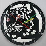Настенные часы из виниловых пластинок Леопард, фото 2