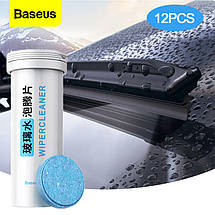 Таблетки для чистки стекол Baseus Auto Glass Cleaner Effervescent Tablets CRBLS-02 (12 шт), фото 2