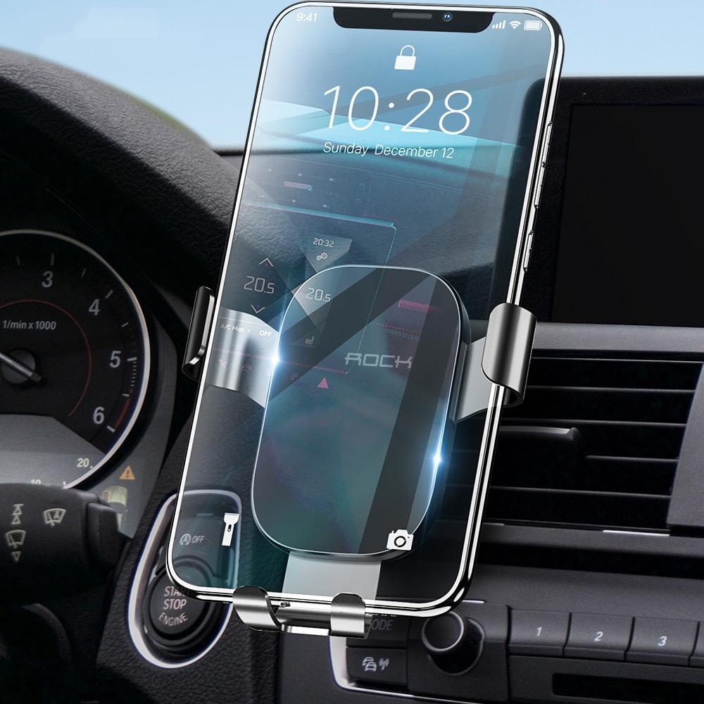 Универсальный автомобильный держатель для смартфона Rock Magnetic Air Vent (Черный)