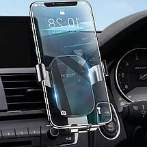 Универсальный автомобильный держатель для смартфона Rock Magnetic Air Vent (Черный), фото 2