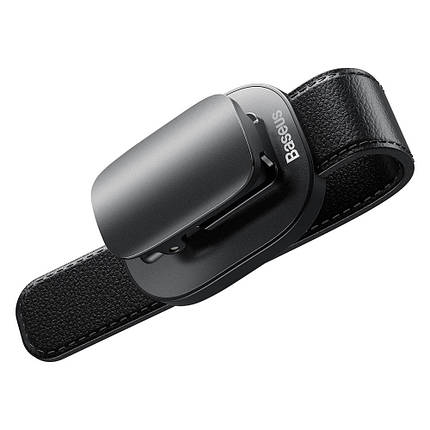 Автодержатель для очков Baseus Platinum Eyewear Clip ACYJN-B01 на солнцезащитный козырек (Черный), фото 2