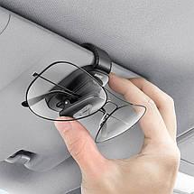 Автодержатель для очков Baseus Platinum Eyewear Clip ACYJN-B01 на солнцезащитный козырек (Черный), фото 3