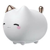 Ночник Baseus Cute Series Kitty Silicone Night Light DGAM-A02 (Белый), фото 2