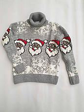 Новогодний свитер на девочек 2-6 лет Дед мороз, фото 3