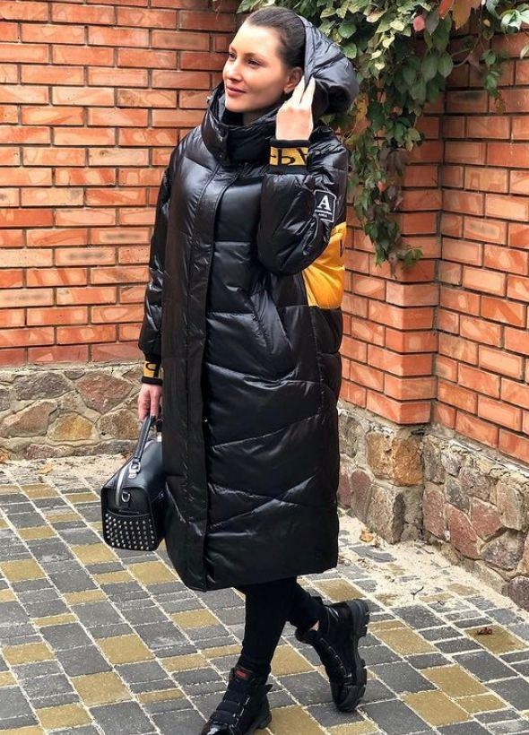 Чёрное длинное пальто TARUN Y020-931-HJH001