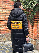 Чёрное длинное пальто TARUN Y020-931-HJH001, фото 2
