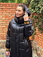 Чёрное длинное пальто TARUN Y020-931-HJH001, фото 3