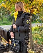 Бананово-оливковое пальто TOWMY TM-AJ-2239, фото 3