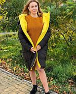 Бананово-оливковое пальто TOWMY TM-AJ-2239, фото 4