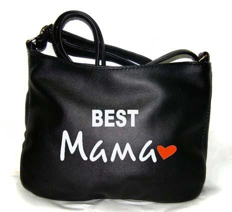 """СУМОЧКА """"МINI"""" - №85 """"Best Мама""""  - черная"""